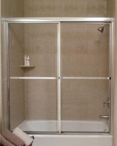 CrystalLine Framed By-Pass Shower Door